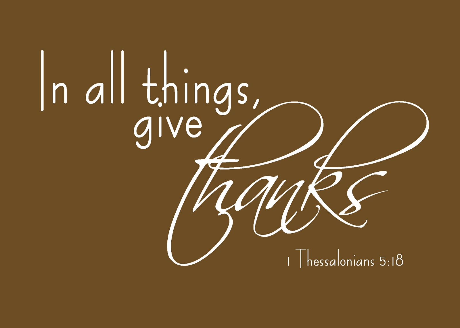 1 Thessalonians Give Thanks